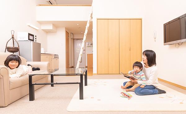 ��チン付きのお部屋は、自宅のように快適にお過ごしいただけます。 また洗濯機付きのお部屋もありお子様連れには安心です。